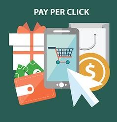 Marketing concept Pay per click vector image vector image