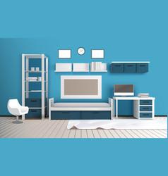 Private room realistic interior vector