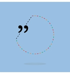 quotation marks with thin line speech vector image vector image
