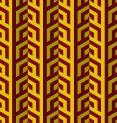 Retro fold red and yellow striped coroners vector
