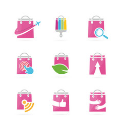Set of shop logo combination deal and retail vector