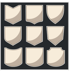 Shields - set vector image