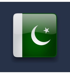 Square icon with flag of pakistan vector