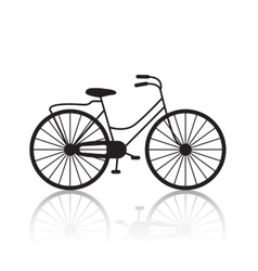 vintage retro bicycle silhouette icon vector image