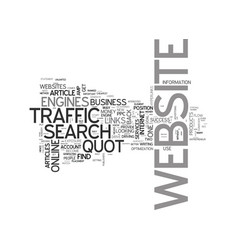 Where does your website traffic come from text vector