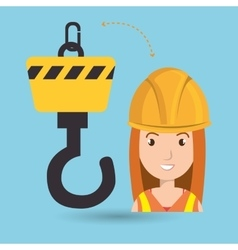 Woman construction tool work vector