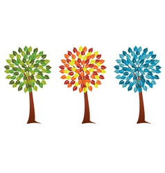 Seasonal trees vector