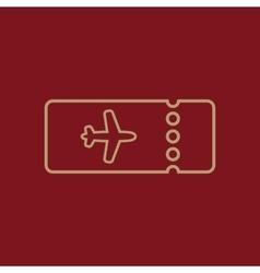 The blank ticket plane icon travel symbol flat vector