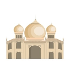 Indian landmark building icon vector