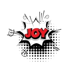 Comic text joy sound effects pop art vector