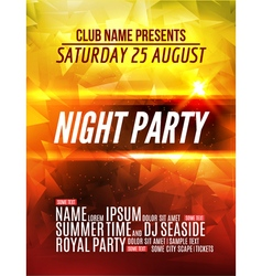 Modern club music party template night dance party vector
