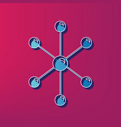 molecule sign   blue 3d vector image