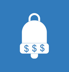 Icon bell with dollar symbol vector