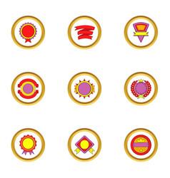 design elements icons set cartoon style vector image