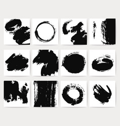 Abstract dirt backgrounds with grunge brush vector