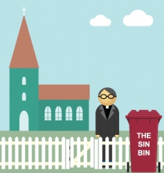 Church sin bin vector