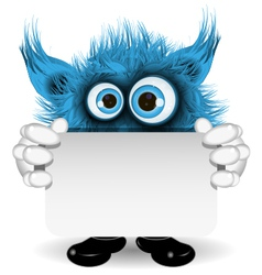 Blue Monster with a White Background vector image
