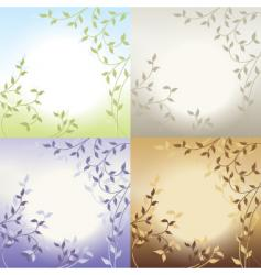 various foliage vector image