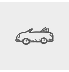 Convertible car sketh icon vector