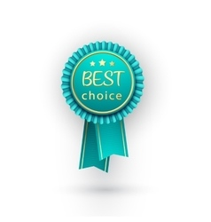 Best choice blue label with ribbons vector