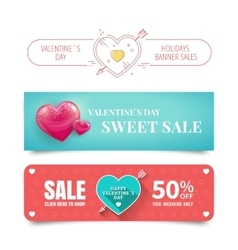 Valentines day banners vector image