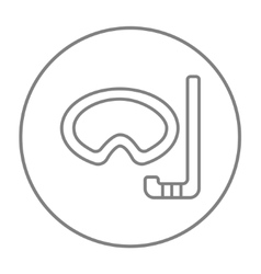 Mask and snorkel line icon vector