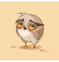 Owl is confused vector