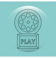 Online cinema design vector