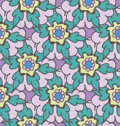 Bright summer floral seamless pattern vector