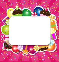 Cupcake Frame vector image