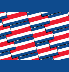 Abstract costa rica flag or banner vector