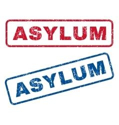 Asylum rubber stamps vector