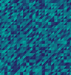 blue abstract triangles mosaic background vector image vector image
