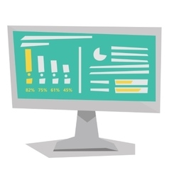 Board with business charts vector
