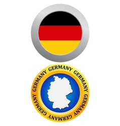 button as a symbol GERMANY vector image