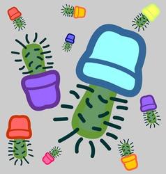 Cactus seamless 2 vector
