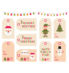 Christmas and new year gift tags vector