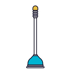 Color sections silhouette of toilet plunger icon vector