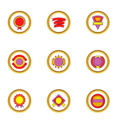 design elements icons set cartoon style vector image