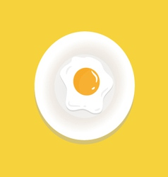 Fried-egg vector image vector image