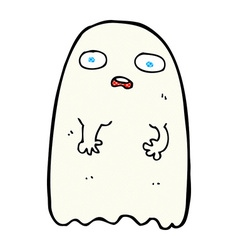 funny comic cartoon ghost vector image