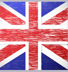 grunge styled flag of great britain vector image