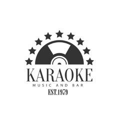 Half vinyl recors framed with stars karaoke vector