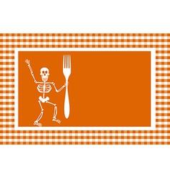 Halloween skeleton background vector