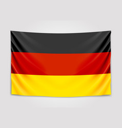 Hanging flag of germany federal republic of vector