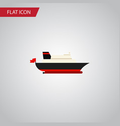 isolated transport flat icon cargo element vector image vector image