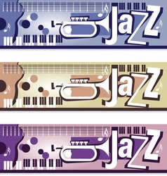 Jazz Banners vector image vector image