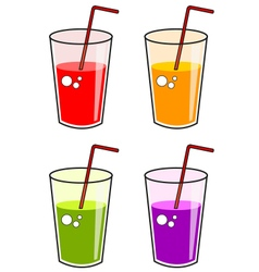 Juices vector image vector image