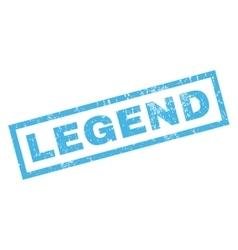 Legend rubber stamp vector