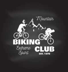 Mountain biking club vector